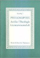 Katalog 7: Philosophie, Antike, Literaturwissenschaft, Theologie