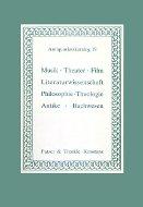 Katalog 19: Musik, Theater, Film, Philosophie. Theologie, Antike