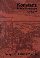 Katalog 23: Konstanz, Baden, Bodensee, Regionalliteratur