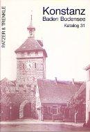 Katalog 31: Konstanz, Baden, Bodensee, Regionalliteratur