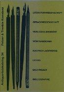 Katalog 34: Literaturwissenschaft, Sprachwissenschaft, Buchwesen, Bibliographie